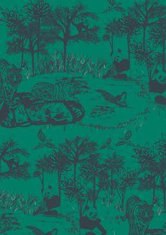 close up of jungle print design  anna burbidge
