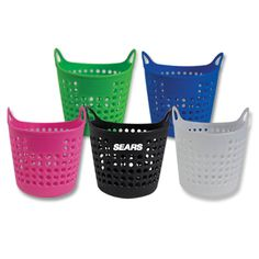 "Mini laundry basket. 4"" x 4 1/2"". Laundry themed baskets are great as desktop stationary holders or as a package together with other products"
