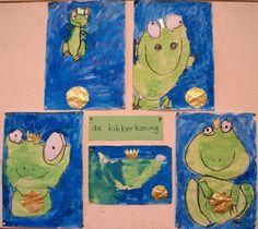 gr.1: de kikkerkoning met wasco en ecoline Monet, Fairy Tales, School, Artwork, Teacher, Painting, Creative, Work Of Art, Professor