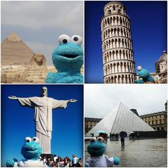 Elmito Azul - Travel toy Travel Toys, His Travel, Future Travel, Otters, Trip Planning, Statue Of Liberty, Japan, City, Instagram
