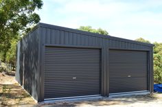 Skillion Double Garage For Quotes please email: sales@allshedsolutions.com.au
