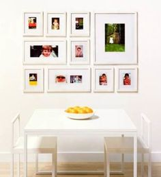 The Perfect Picture Wall Gallery Frame Set includes ten gallery-style picture frames that create an instant art wall (the Pre-View Template allows you to determine the placement of frames before hanging). Frames On Wall, Wall Collage, Wall Art, Hanging Frames, Collage Frames, Wedding Picture Walls, White Picture Frames, White Frames, Decoration Photo