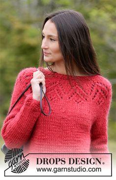 Free knitting patterns and crochet patterns by DROPS Design Free Knitting Patterns For Women, Knitting Machine Patterns, Knitting Charts, Drops Design, Crochet Designs, Knitting Designs, Crochet Patterns, Garnstudio Drops, Magazine Drops