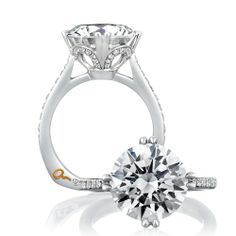 I'm partial to a basic round diamond and thin band... But am kind of liking the dimension and detailing to this!