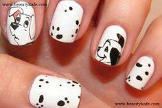 Cute 101 Dalmatians nails !! Animal Print Nail Designs - Beautykafe