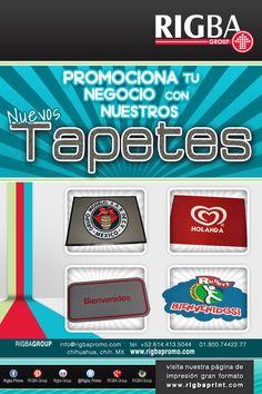PROMOCIONATE CON LOS NUEVOS TAPETES DE BIENVENIDA EN RIGBAgroup