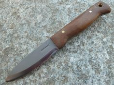 Condor 2323HC Mini Bushlore Knife, 2.875 Inch 1075HC Blade, Wood Handle, Brown Leather Sheath. http://www.osograndeknives.com/store/catalog/fixed-blade-hunting-knives/condor-mini-bushlore-knife-2.875-inch-1075hc-blade-wood-handle-brown-leather-sheath-2323hc-14557.html