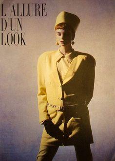 Photos PETER LINDBERGH  Vogue DE - L'allure d'un look - Kristen Mc Menamy - Aug 1985