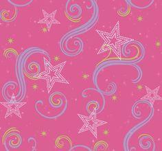 """Star Glitter 2.25' x 1.75"""" Scroll Wallpaper"""