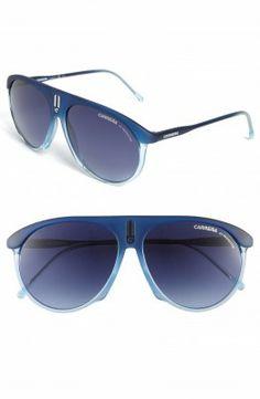 Óculos Carrera Men's Eyewear 58mm Aviator Sunglasses Blue #Oculos #Carrera