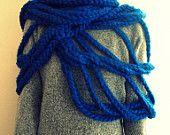Large Cloud scarf - blue