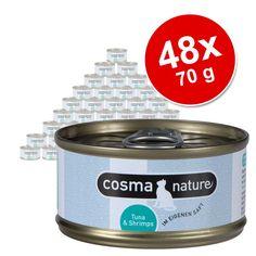 Animalerie  Lot Cosma Nature 48 x 70 g pour chat  blanc de poulet thon