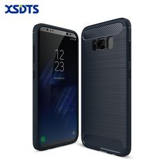 For Samsung Galaxy S8 Plus Shockproof Phone Case For Samsung Galaxy S6 S6 Edge S7 S7 Edge Carbon Fiber TPU Phone Cases Cover
