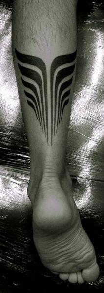 Polynesian Leg Tattoo 15