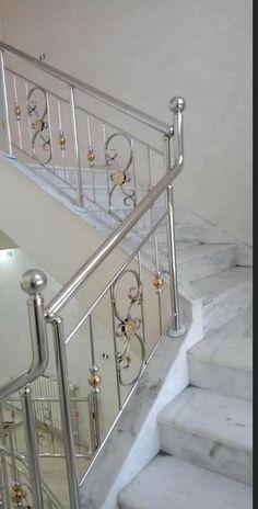 Steel Stairs Design, Steel Grill Design, Staircase Railing Design, Home Stairs Design, Home Building Design, Railings, Balcony Grill Design, Balcony Railing Design, Window Grill Design
