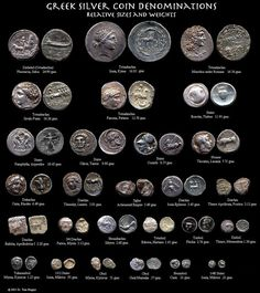Ancient Greek and Roman Coins Numismatic Coins, Big Coins, Bullion Coins, Gold Bullion, Coin Shop, Coin Art, Gold And Silver Coins, Silver Prices, Coin Jewelry