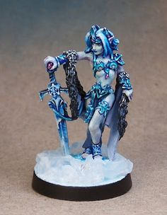 Anne Cooper: Ice Queen, Reaper Miniatures, Sculpted by Werner Klocke, Painted by Anne Cooper, Oct. 2009