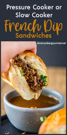 I'm putting Pressure Cooker French Dip Sandwiches vs. Slow Cooker French Dips against each other for the most tender roast beef and tasty au jus!