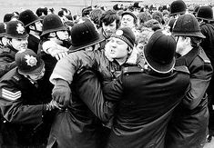 Thoresby Colliery during the Miners' strike, 1984