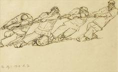 """Robert Sterl, """"Vier Schiffszieher am Treidel"""", 1912"""