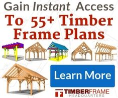 DIY timber frame construction plans for a porch, shed or pergola. Add roofing and siding to enclose the frame, or expose rafters for a pergola. 10x10 Shed Plans, Free Shed Plans, Gazebo Plans, Barn Plans, Master Suite, Wooden Swing Set Plans, Timber Frame Cabin, Timber Frames, Wood Storage Sheds