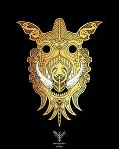 fenrir la terreur des ases loup tatouage viking tatouage et tatouage loup. Black Bedroom Furniture Sets. Home Design Ideas
