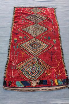 Vintage 4.36 ft x 8.72 ft Traditional Azilal Rug by BerberTouch