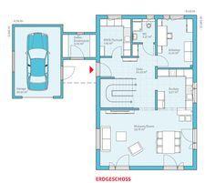 Grundriss-EG, Energiesparhaus Variant 169, 111,58 m²