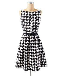 Vintage inspired, classic black and white houndstooth... was this dress made for me?
