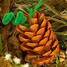 Pine Cone Pumpkin Crafts | AllFreeKidsCrafts.com