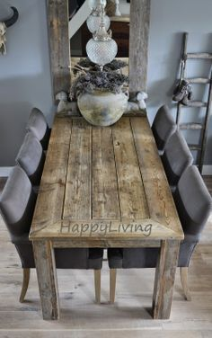 50 The Best Wood Dining Table Design That Trend Today The Best Wood Dining Table Design That Today Trend 47 Mango Wood Furniture, Dining Furniture, Home Furniture, Home Interior, Interior Design, Esstisch Design, Dining Table Design, Deco Table, Rustic Interiors