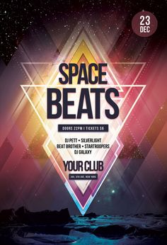 Space Beats Flyer by styleWish (Download PSD file)