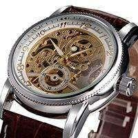Men Skeleton Elegant Dress Wristwatches