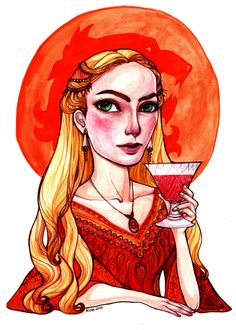 Cersei Lannister by rynarts on deviantART Game Of Thrones Books, Game Thrones, Got Characters, Fictional Characters, Cercei Lannister, Queen Cersei, The North Remembers, Stuff And Thangs, Winter Is Coming