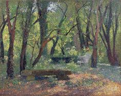 Landscape with Stoned Bench, 1932