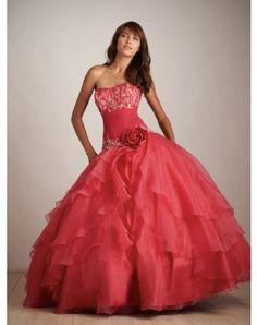 Nice Ball-Gown Sweetheart Hand-Made Flower Sleeveless Floor-length Organza Prom Dresses