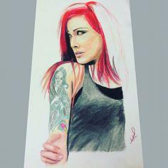By color pencil