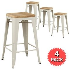 66cm high - may not be high enough- but very nice stools. Set of 4 - Tolix Premium Bar Stool Timber Seat - 66cm - Xavier Pauchard Reproduction - White 58% OFF | $219.00 - Milan Direct