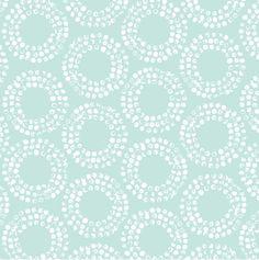 Cloud9 Full Circle Robin's Egg - Shape of Spring Collection - Organic fabric - light blue circles - 1/2 Yard