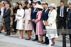 (L-R) Princess Sofia, Princess Madeleine of Sweden,Christopher O'Neill, Queen Silvia of Sweden, Prince Daniel of Sweden, Crown Princess Victoria of Sweden and Princess Estelle of Sweden are seen at the celebrations of the Swedish Armed Forces for the 70th birthday of King Carl Gustaf of Sweden on April 30, 2016 in Stockholm, Sweden.  (Photo by Luca Teuchmann/Luca Teuchmann / WireImage)