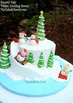 Snow slope cake