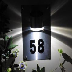 Personalised solar LED house sign Acrylic by WoodenPhotoMemories