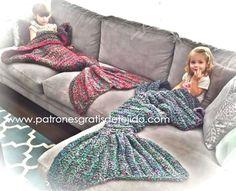 Cómo tejer Mantas de Sirena al Crochet / 2 tutoriales | Crochet y Dos agujas