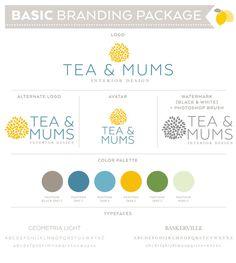 Basic Premade Logo Branding Set