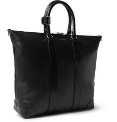 Saint LaurentCoated-Canvas Leather Tote Bag