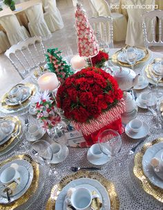 vases surrounded with candy canes. Also the starlight mint covered foam cone as a tree.