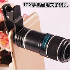 2017 Universal Clips 12X Optical Zoom Lenses Mobile Phone Telescope Telephoto Lens For iPhone 5s 6 6s 7 Plus for samsung S6 S7