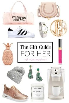 Here it is! The gift guide I've been working on all week. I'm bringing you the best gifts for all of the ladies in your squad. (I've never ever used that word and probably never will again.) Not sure what to get your super fancy pants Mother-In-Law? Or your friend who just had a baby? Don't worry. It's all here… Maybe you want to splurge on your mama ...