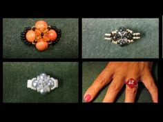 Trinity Beaded Ring Tutorial - YouTube