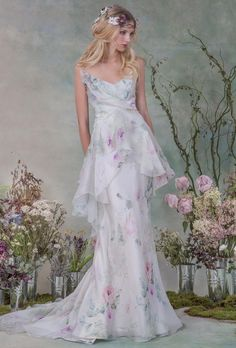 Beautiful Floral Wedding Dress